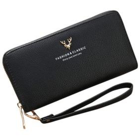 AYATR財布ハンドバッグ女性ファッションLicheeパターン固体シングルプル鹿ヘッドWallteコインバッグ