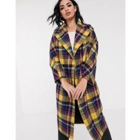 ヘレン バーマン Helene Berman レディース コート アウター oversized check coat in wool blend