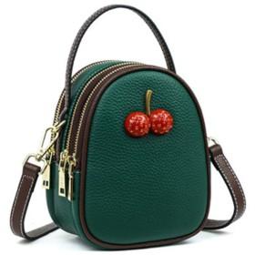 革製のハンドバッグ、ショルダーバッグの女性、ソフトレザーの斜めのバッグの女性、-darkgreen