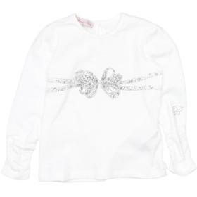《期間限定セール開催中!》MISS BLUMARINE ガールズ 0-24 ヶ月 T シャツ ホワイト 12 コットン 94% / ポリウレタン 6%