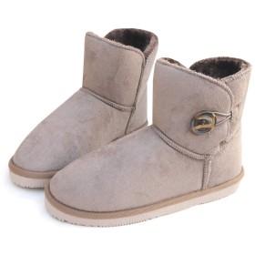 [ysp-jpn] ブーツ ムートン 暖かい たっぷりボア もこもこ ショート ボタン(3-2F.D) ローヒール SC-12655