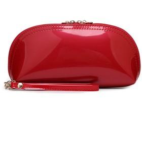 AYATR財布ハンドバッグ女性単色ジッパー明るい表面クラッチバッグコインバッグ電話バッグコイン