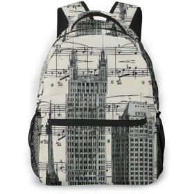 バックパック ニューヨークの歌 Pcリュック ビジネスリュック バッグ 防水バックパック 多機能 通学 出張 旅行用デイパック