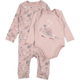 《期間限定セール開催中!》STELLA McCARTNEY KIDS ガールズ 0-24 ヶ月 乳幼児用ロンパース パステルピンク 9 コットン 95% / ポリウレタン 5%