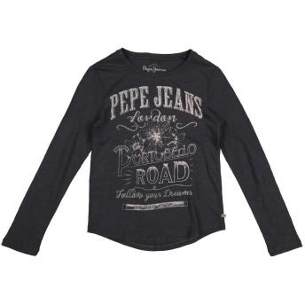 《セール開催中》PEPE JEANS ガールズ 9-16 歳 T シャツ スチールグレー 10 コットン 100%