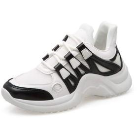 [Bopoli] Sneakers レディーズ ブーツ Vulcanize ブーツ レディース サンダル カジュアルl Sneakers プラットフォーム Autumn 夏 White Dad ブーツ Baskets Femme