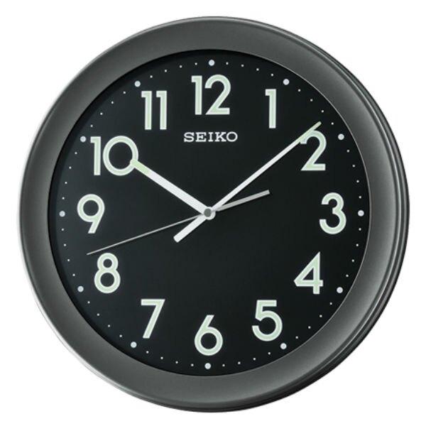 Seiko 精工鐘 (QXA670K) 典雅風格黑色外框夜光標準鐘/36.8*4.3cm