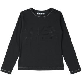 《セール開催中》CESARE PACIOTTI 4US ガールズ 3-8 歳 T シャツ ブラック 8 コットン 95% / ポリウレタン 5%