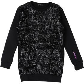 《期間限定セール開催中!》HAPPINESS ガールズ 3-8 歳 スウェットシャツ ブラック 8 コットン 100%