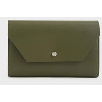 スナップボタン パスポートホルダー / Snap Button Passport Holder (Olive)