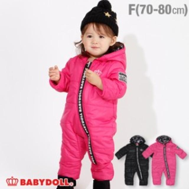 NEW ロゴ ジップ ジャンプスーツ 3109B  ベビードール 子供服 ベビーサイズ 男の子 女の子 v30