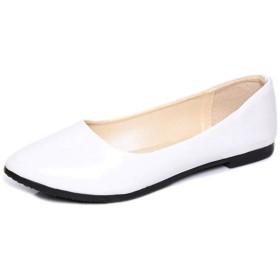 [AJGLJIYER LTD] ペタンコパンプス レディース 痛くない ローヒール おしゃれ 22.5cm 旅行 疲れない靴 幅広 足が痛くならない 靴 全5カラー ホワイト 柔らかい 履きやすい カジュアル オールシーズン 脱げない 黒 モカシンパンプス