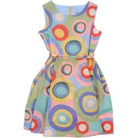 《期間限定セール開催中!》MIMISOL ガールズ 9-16 歳 ワンピース&ドレス ターコイズブルー 10 コットン 100%