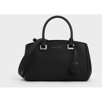 ストラクチャード トップハンドルバッグ / Structured Top Handle Bag (Black)