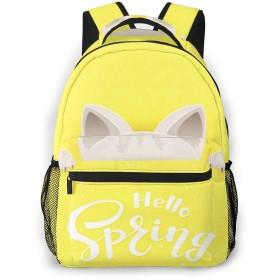 リュック バック こんにちは猫, リュックサック ビジネスリュック メンズ レディース カジュアル 男女兼用大容量 通学 旅行 鞄 カバン