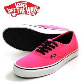 VANS バンズ AUTHENTIC VN-0KUM1F3 / Neon Fluorescent Pink/スニーカー US企画海外ヴァンズ靴スニーカー メンズ