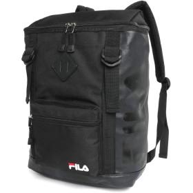 [フィラ] リュック ボックス スクエア 型 ブランド ロゴ PC収納 ブラック(ブラック/ブラックロゴ/ブラックジップ) 縦38cm×横26cm×マチ14cm(A4対応)
