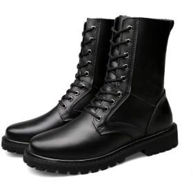 [KYUNEKY12] 小さいサイズ 22.5 23.0 メンズ くろい シークレット シークレットシューズ シークレットブーツ ワークブーツ 9cmアップ カジュアルシューズ ビジネス ショート 裏起毛 防水 滑り止め 厚底 革靴 柔らかい 軽量 黒