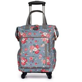 キャリーバッグ 手提げバッグ キャスタバッグ 機内持ち込み可能 取り外し不可 折りたたみ式 フラワー ファッション ちょどういいサイズ 二泊 三泊 ハイキング 出張用 修学旅行バッグ 合宿バッグ