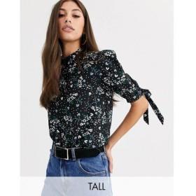 ファッションユニオン Fashion Union Tall レディース トップス high neck top with tie sleeve detail