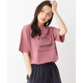 シューラルー ポリコットンコクーンロゴTシャツ レディース ピンク(072) 03(L) 【SHOO・LA・RUE】