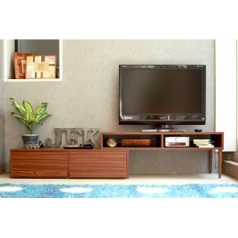 テレビ台 伸縮 テレビボード インダストリアル 北欧 ブラウン 木製 32型 MTS-075