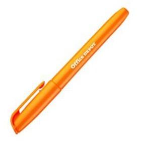 (業務用セット) 蛍光ペン シングルタイプ オレンジ 1本 【×50セット】