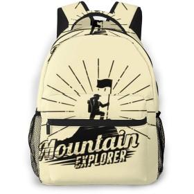 リュック バック 立っている男旗, リュックサック ビジネスリュック メンズ レディース カジュアル 男女兼用大容量 通学 旅行 鞄 カバン