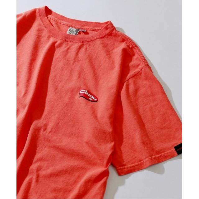ジャーナルスタンダード CHUMS×BAMBOO SHOOTS×relume 別注バルーンロゴTシャツ メンズ ピンク L 【JOURNAL STANDARD】