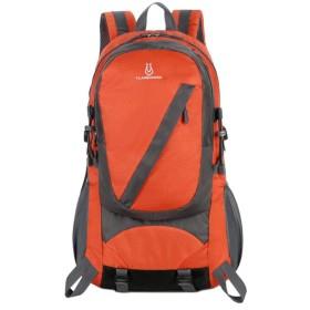 アウトドアショルダーバッグ大容量防水ハイキングのバックパック旅行バッグの男,オレンジ
