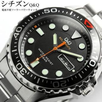 エントリーでポイント5倍 腕時計 メンズ シチズン ソーラー 腕時計 メンズ ダイバースデザイン ウォッチ