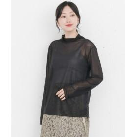 KBF(ケービーエフ) トップス Tシャツ・カットソー KBF+ シアーハイネックカットソー【送料無料】