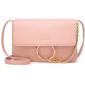 YIYUTING 女性のためのメッセンジャーバッグファスナーポケットショルダーバッグメッセンジャーバッグ (色 : ピンク)