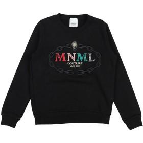 《期間限定セール開催中!》MNML COUTURE ガールズ 9-16 歳 スウェットシャツ ブラック 10 コットン 100%