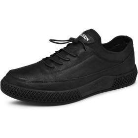 [つるかめ] スニーカー カジュアルシューズ 革靴 ビジネスシューズ メンズ 牛革 ウェディングシューズ 紳士靴 モンクシューズ ドレスシューズ 四季 ブラック 25.0CM xcr286