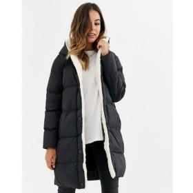 ブレイブソウル Brave Soul レディース コート アウター hoplong padded coat with borg lining ブラック
