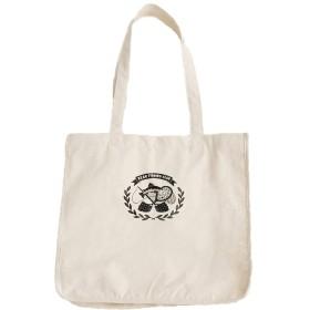 (メルロー) merlot ◆オカタオカさんコラボ◆Bear&Salmonワンポイントトートバッグ B