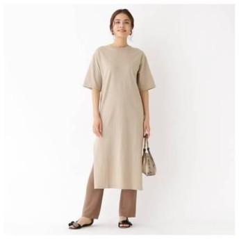 アクアガールレピスリー aquagirl/l'epicerie Tシャツスリットワンピース (ナチュラル)