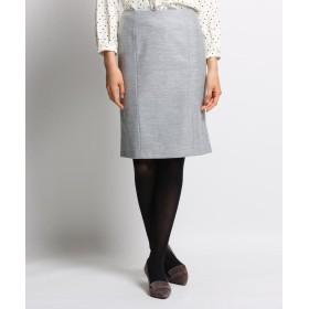 INDIVI(インディヴィ) ウールブレンドタイトスカート