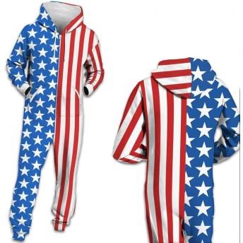 ユニセックスワンシーフーディー 3Dプリントジャンプスーツ 長袖ジップ プレイスーツ トラックスーツスポーツウェア 男性用女性用 #2 (色 : BES002, サイズ : S)