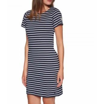 ジュールズ Joules レディース ワンピース ワンピース・ドレス Riviera Short Sleeve Jersey Dress Navy Cream Stripe