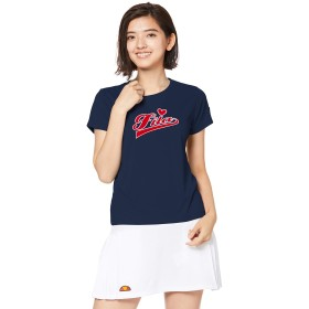[フィラ テニス] テニス 半袖Tシャツ 吸汗速乾 UVカット ベロアロゴTシャツ VL2027 レディース フィラネイビー 日本 L (日本サイズL相当)