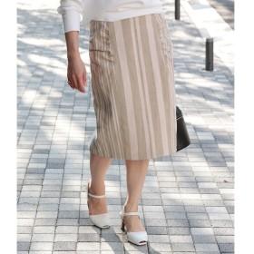 【ロペ マドモアゼル/ROPE madmoiselle】 ストライプコクーンタイトスカート