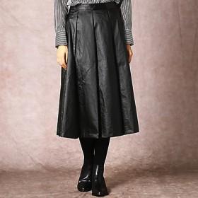 <COMME CA/コムサ> ブラックコーティングハギプリーツスカート(0106FN03) 09【三越・伊勢丹/公式】