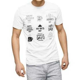 igsticker プリント Tシャツ メンズ Msize おしゃれ クルーネック 白 ホワイト t-shirt 015490 父の日 英字