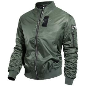 ジャケット MA-1 メンズ ミリタリー ブルゾン 厚手 ジャンパー 中棉 アウター 秋 冬 春 防寒 防風 撥水 カジュアル