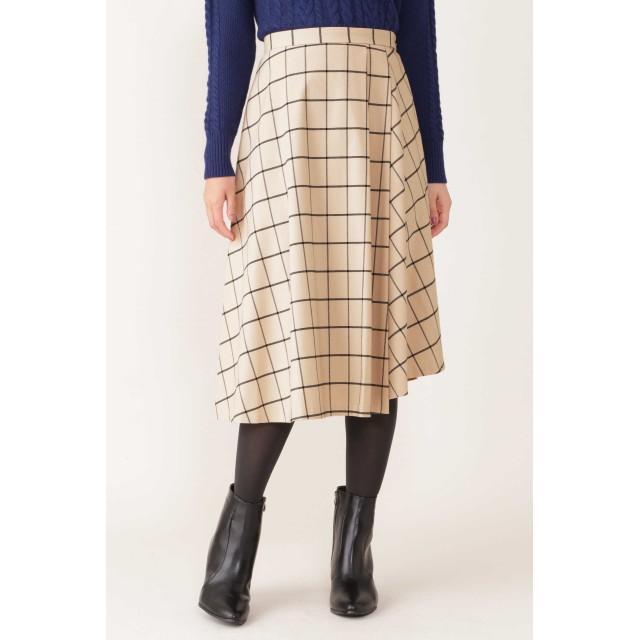 NATURAL BEAUTY ウィンドペンアシンメトリースカート