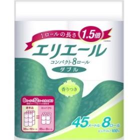 (まとめ)大王製紙 エリエールトイレット コンパクト8Rダブル 【×3点セット】