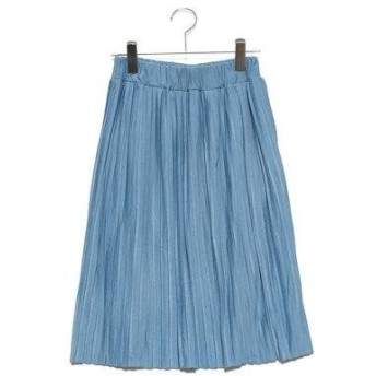 セシール CECILE カットソープリーツスカート(60cm丈) (クラウドブルー)