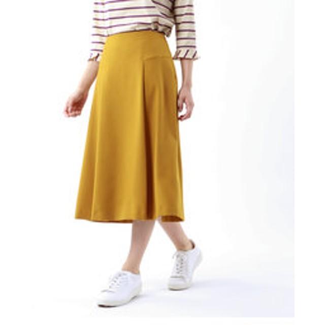 【TRANS WORK:スカート】【ウォッシャブル】ウーリッシュサージスカート